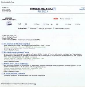 corriere della sera Archivio storico Angela Battaglia stampa 28luglio2006